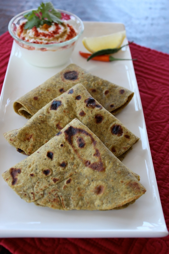 Spinach Cottage Cheese Roti